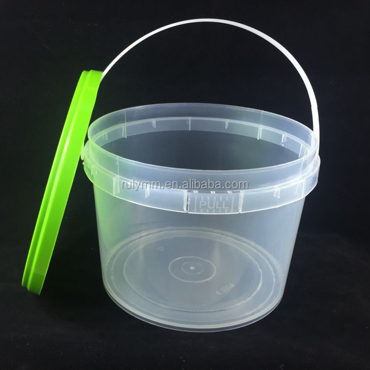 Wholesalefood grade cheap clear 1 gallon plastic bucket