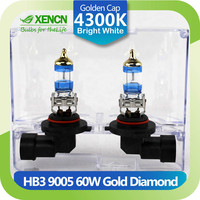 XENCN HB3 9005 12V 60W P20d 4300K Gold Diamond Car Head Light Germany Quality Halogen Bulb UV Filter Auto lamp