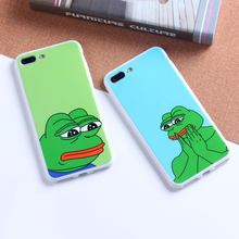 ODM OEM Customized Cell Mobile Smart Phone Common Frog Emoji IMD Cover Tpu Case For Iphone 7