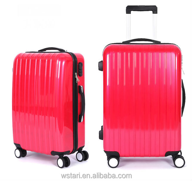 Classic stripe colorful ABS eminent luggage travel bag for sale