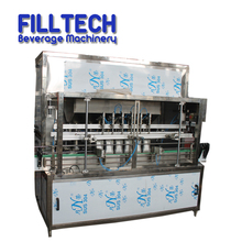 Linear type Automatic edible plastic bottle oil filling and capping machine