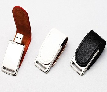 Promtional Gift Luxury Leather usb flash memory with customized logo