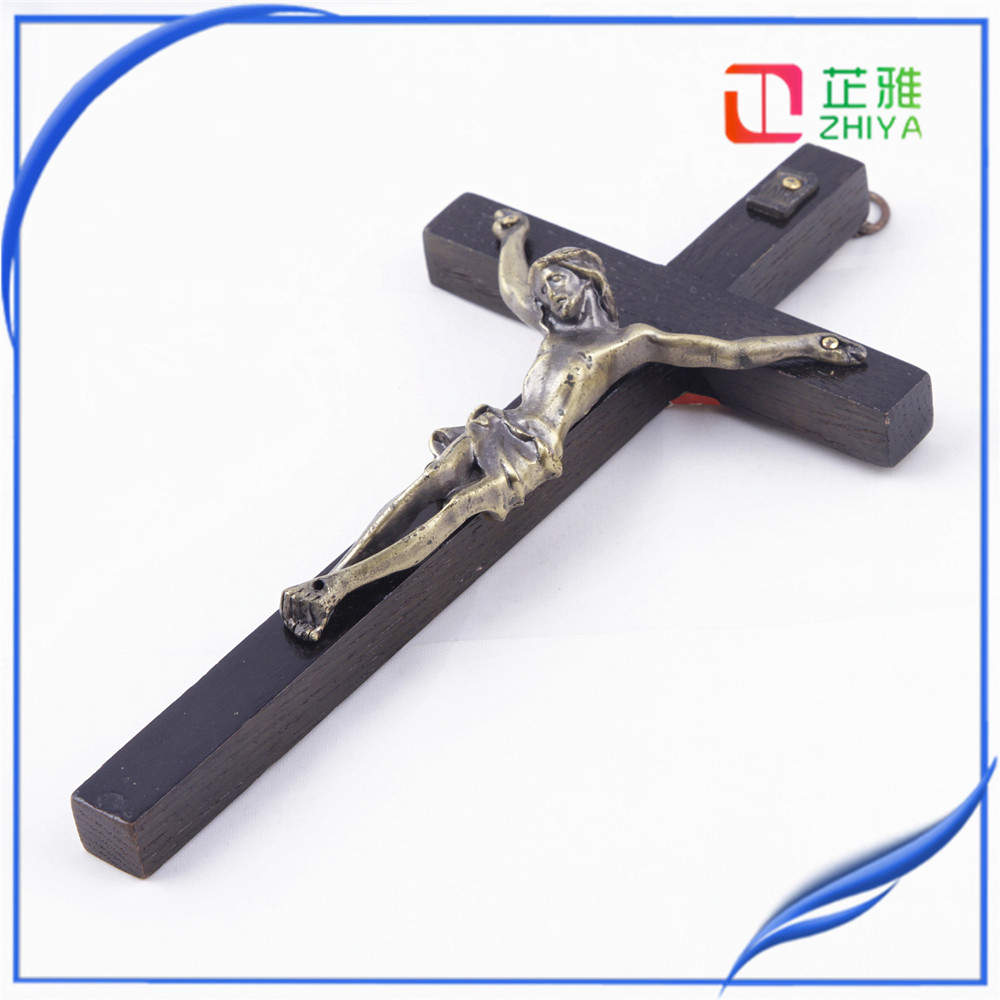 black wood Holy Jesus cross