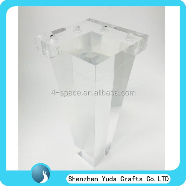 clear acrylic square leg lucite bench legs 14""