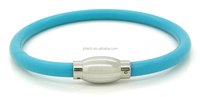 Energy silicone bracelet with magnet steel clasp