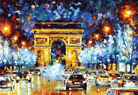 On Selling Frameless Pictures Painting DIY By Numbers Digital Oil Painting On Canvas Home Decoration Triumphal Arch City 40*50cm