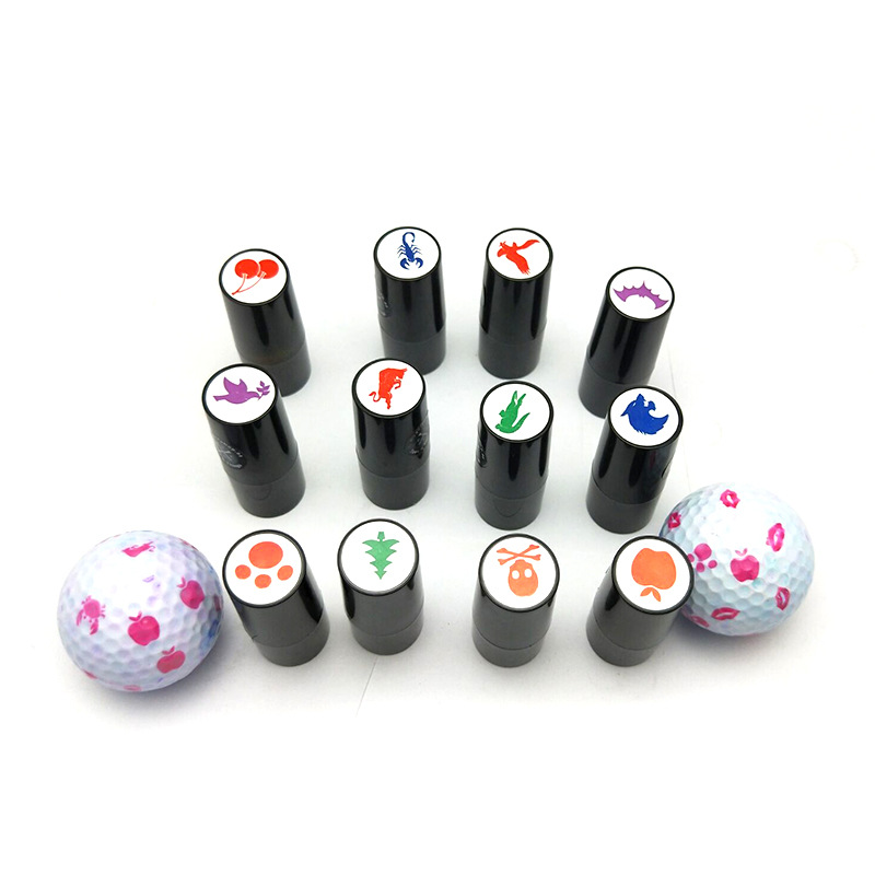 customized design golf ball stamp drying quickly golf stamp self inked stamp with quick drying ink