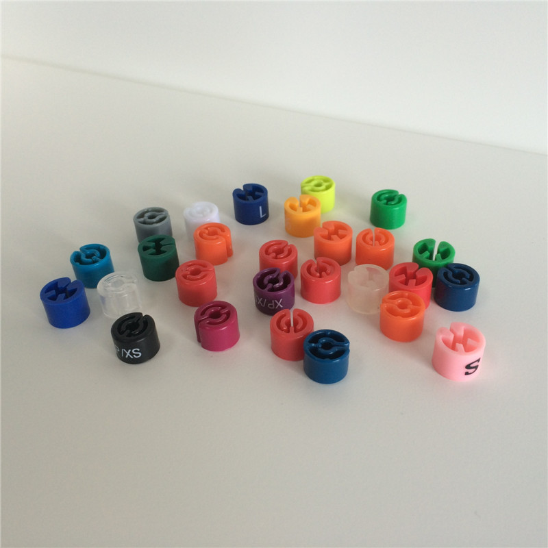 wholesale colored plastic size marker for hanger