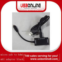 Micro usb MHL to HDMI Adapter for S2 Black