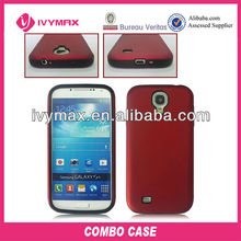 hard pc silicone case for samsung s4 cover
