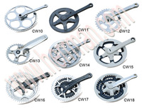 alloy bicycle chainwheel and crank