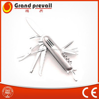 Multifunction knife with aluminum handle 15 in 1/free sample knife