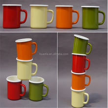 Enamelware classical multicolor high quality custom carbon steel intents camping enamel mug for promotion gift