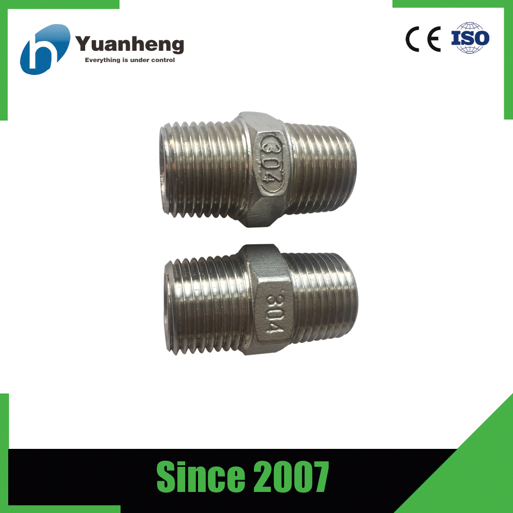 hexagon high quality ss304 pipe nipple