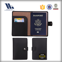 RFID Blocking Leather Passport Holder Wallet Cover Case Wing Pocket 7 Colors
