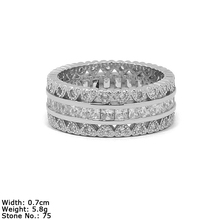 RZA4-02 ring jewelry type and silver material cz stones love band different types stones rings