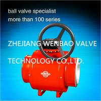 High Press trunnion mounted ball Electrical Fully Welded Cast Steel Ball Valve / Fully Welded Ball Valve with Fire Safe Design