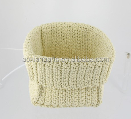 Hand Knitting Pure Basket Organize Clothes Bowl for Every Room