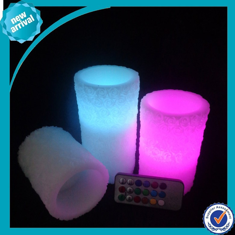 remote control flameless color changing led candle