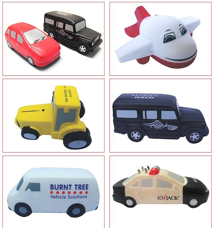 Cheap Hot Sale Soft Pu Anti Stress Car Baby Toy Cars