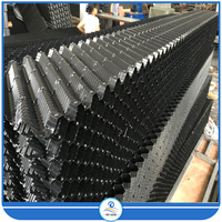 Black PVC Honeycomb Cooling Tower Filler