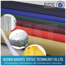 Waterproof 210t polyester oxford fabric with pu coating for car cover