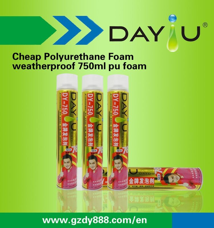 Professional manufacture 750ml spray fire retardant pu foam aerosol can spray head for foam