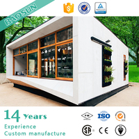 20ft prefabricated steel frame container house movable