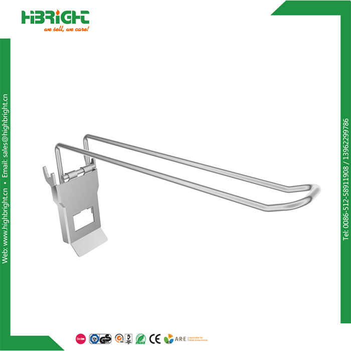 supermarket euro peg display hook for pegboard