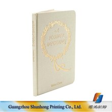 Luxury Hot Stamping Embossing Hardcover Wedding Book Printing Services
