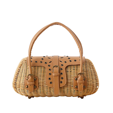 2019 Handicraft Square Woven Wicker Organization Case Rattan Basket with Cover