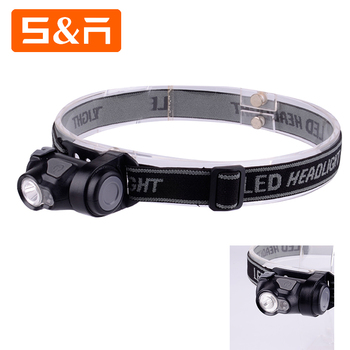 Cheap 5W Dual LED High Power 3 Modes Outdoor AAA Battery Powered Night Red Headlamp