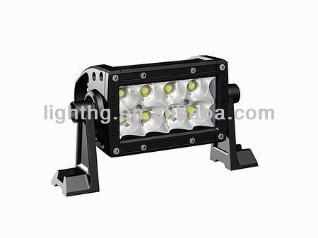 HOT SALE! 8.5inch Stainless steel Waterproof 3W Cree LED light bar cree 24w truck roof off road tractor light bar HG-8625-24