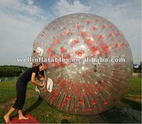 China transparent inflatable body zorbbing ball for people