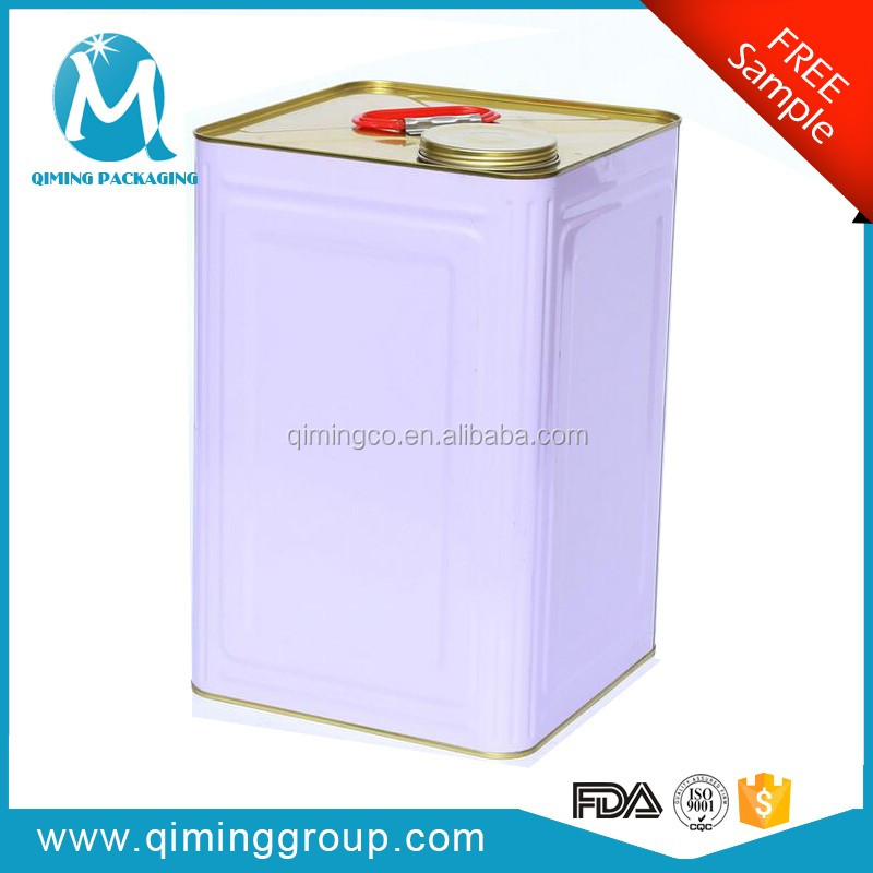 Wholesale Promotion Square Tin Pail With Lids And Handles