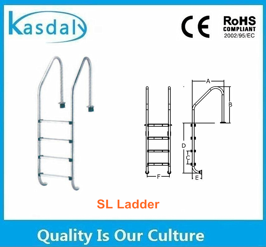 316 stainless steel detachable inflatable adult swimming pool ladder