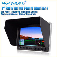 FEELWORLD 7 inch full hd monitor camera slider with waveform vector scope histogram
