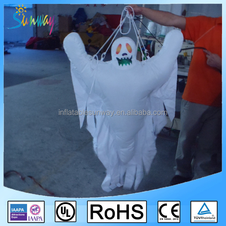 2016 inflatable hanging ghost wholesale commercial halloween inflatable holiday yard decoration halloween inflatable - Commercial Halloween Decorations