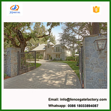courtyard automatic wrought iron sliding gate design