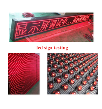 Hot sale red electronic led scrolling message sign display board P10