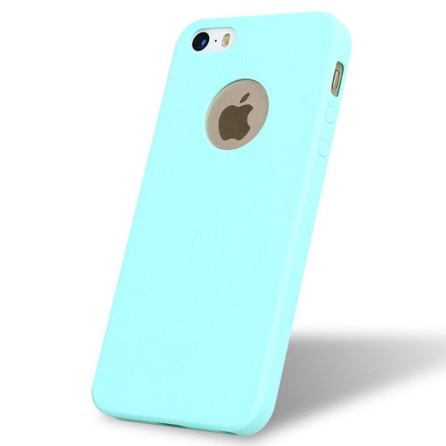 Custom Logo Ultra Thin Candy Color TPU Gel Soft Silicone Case Cover for iPhone 5s 5 SE Rubber smart phone cases