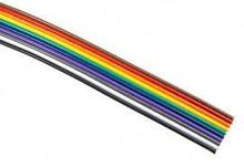 18awg colorful electrical wire/flat rainbow cable/copper conductor 80C PVC insulated