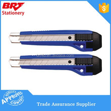 High quality plastic blue paper cutter knife