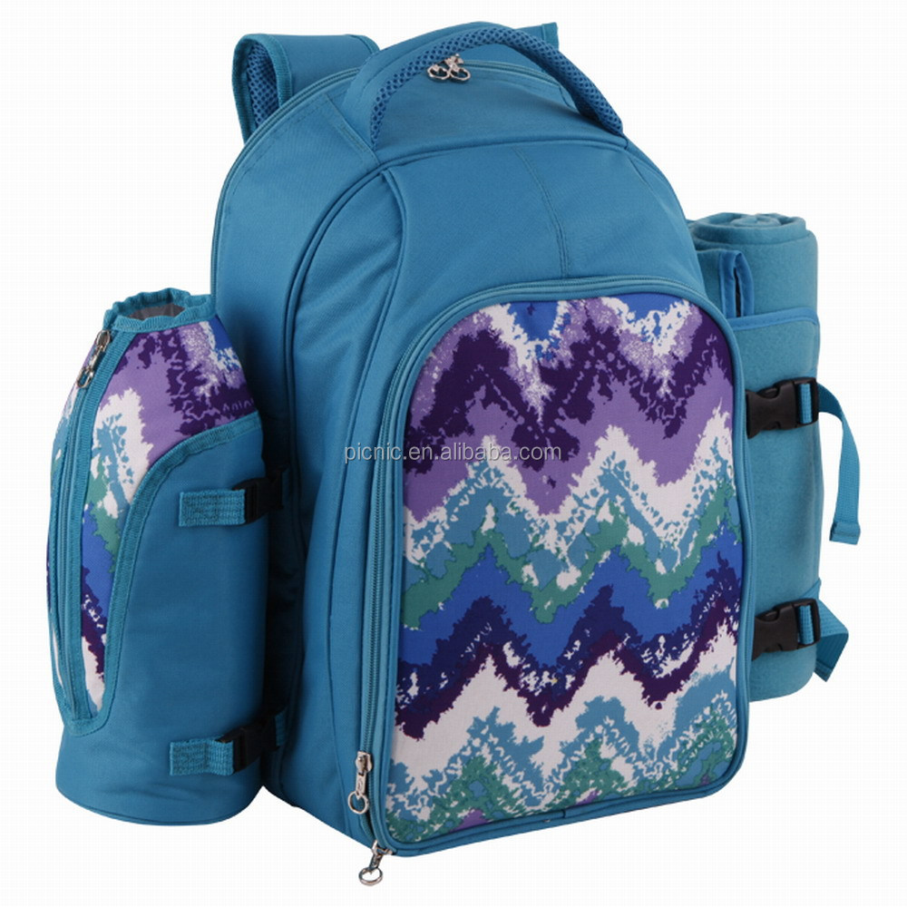 Outdoor Classic Cooler Picnic Backpack With Blanket