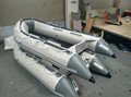 3.0m light grey cheap 0.9mm pvc material inflatable boat with CE made in China
