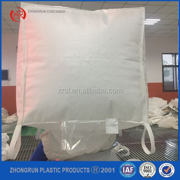 Industrial bulk bag,polypropylene 1000kg bulk bags,pp big bag packing salt rice sand