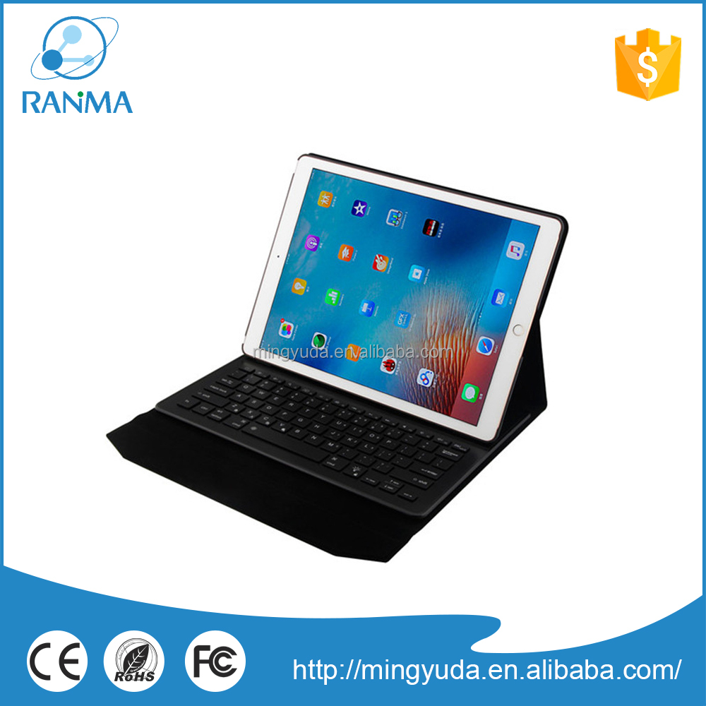 For ipad PU case cover with Aluminum Bluetooth keyboard