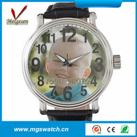 unique face trend design genuine leather quartz watch for small wrist
