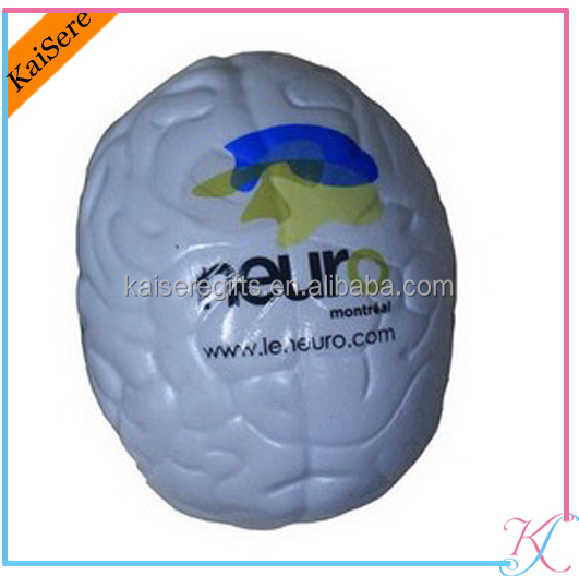 Factory sells directly pu brain shape stress <strong>ball</strong> printed logo