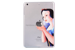 New Arrive Transparent PC Material Cases For Apple Ipad 2 3 4 Creative Hollow Clear Cover Case For White Snow Princess For Ipad